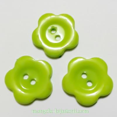 Nasturi plastic verde deschis, floare 22x2mm 1 buc