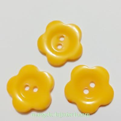 Nasturi plastic portocaliu, floare 22x2mm 1 buc