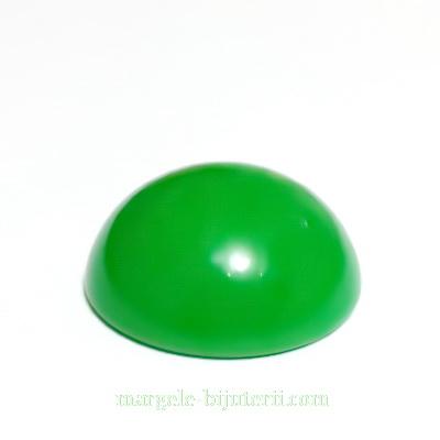 Cabochon plastic verde inchis, 25x10mm 1 buc
