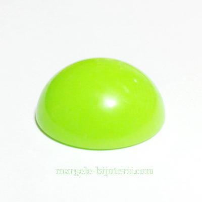 Cabochon plastic verde, 25x10mm 1 buc