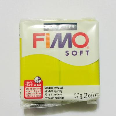 Plastelina fimo soft 57g cod cul 52-green lime 1 buc