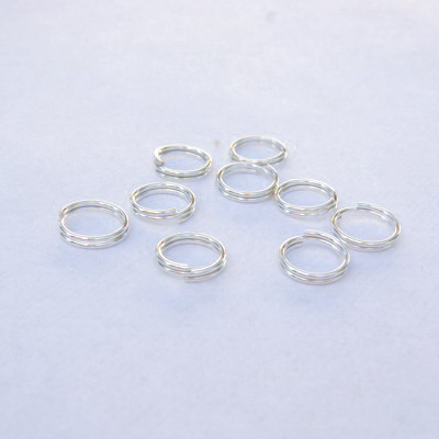 Zale duble 7 mm, placate cu argint 10 buc