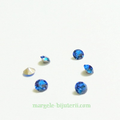 Swarovski Elements, Xirius Chaton 1088 PP32 Capri Blue 4mm 1 buc