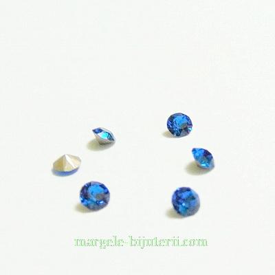 Swarovski Elements, Xirius Chaton 1088 PP32 Capri Blue 4mm 1 buc