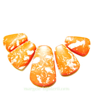 Compozit portocaliu cu alb, set 5 buc 1 buc