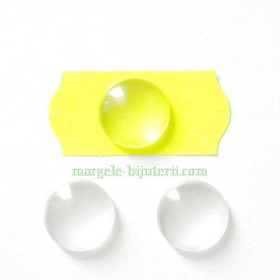 Cabochon sticla transparenta, 10x3.5mm 1 buc