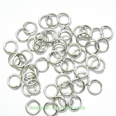 Zale simple argintiu inchis, 6mm, grosime 1mm 100 buc
