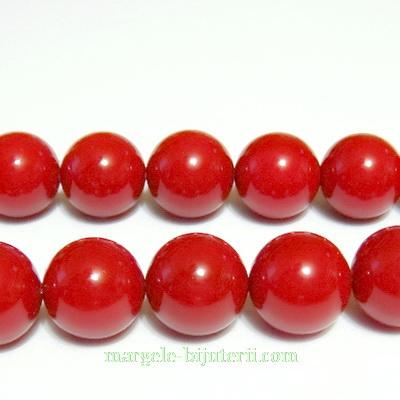 Perle stil Mallorca, rosu inchis, 12 mm 1 buc