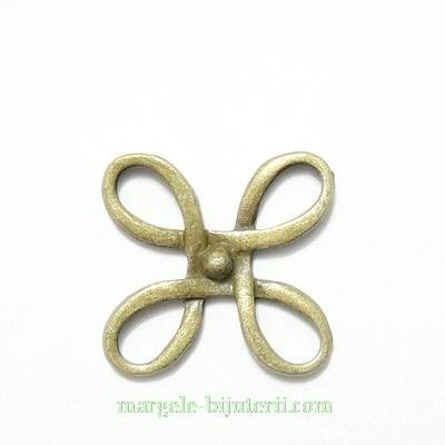 Conector / link bronz, nod marinaresc, 18x18mm 1 buc
