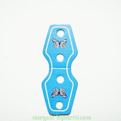 Etichete carton, bleu, lucioase, 62x25x0.5mm 10 buc