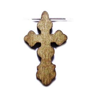 Cruciulita lemn, maro, 40x24x3.5mm 1 buc