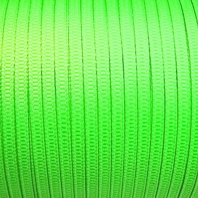 Banda polyester, verde-lime, 3.2x0.3mm 1 m