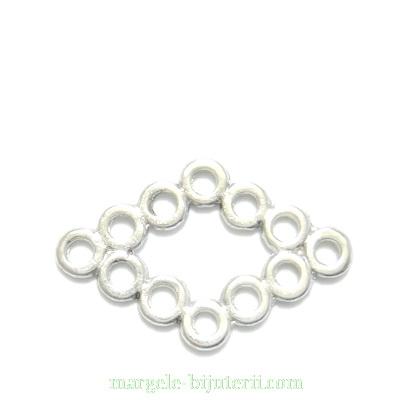 Conector / link, argint tibetan, 30x19x2 mm 1 buc