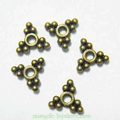 Distantier bronz cu bobite, 10x10x2mm 1 buc