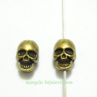 Distantier bronz, craniu, 11x8mm 1 buc