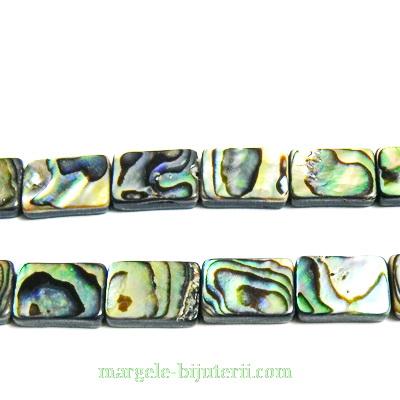 Scoica Paua, dreptunghiulara, 14x10x3mm 1 buc