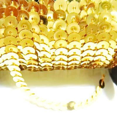 Panglica paiete galben-auriu, 6mm 1 m