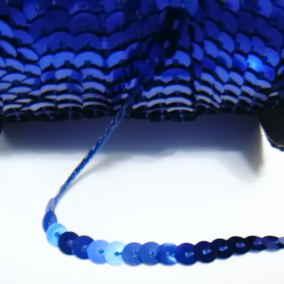 Panglica paiete albastru-cobalt, 6mm 1 m