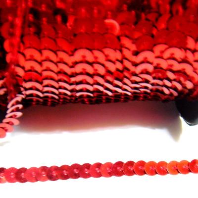 Panglica paiete rosie, 6mm 1 m