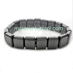 Bratara 19 buc hematit magnetic 13x8x6mm 1 buc