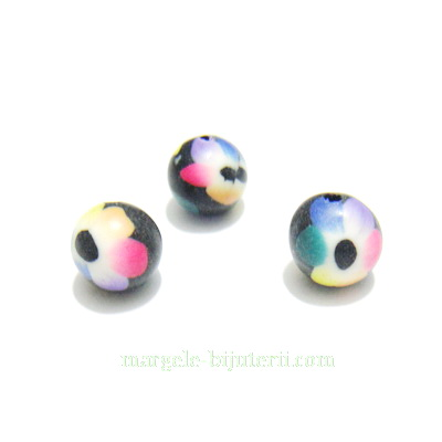 Margele fimo, multicolore, 8mm 1 buc