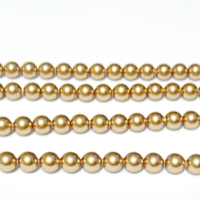 Swarovski Elements, Pearl 5810 Crystal Bright Gold 4 mm 1 buc