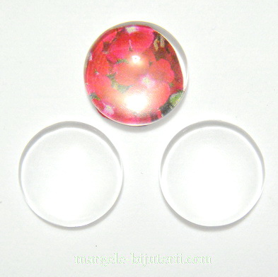 Cabochon sticla transparenta, 15x4.5mm 1 buc