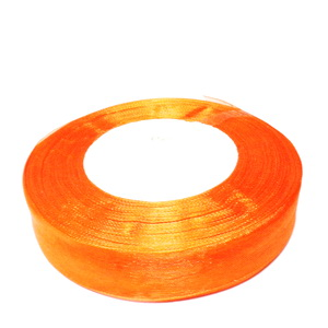 Panglica organza portocaliu, 2 cm 1 rola 50 m
