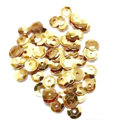 Paiete hexagonale, auriu-metalizat,  6mm, 2 gr(150-160 buc) 1 buc