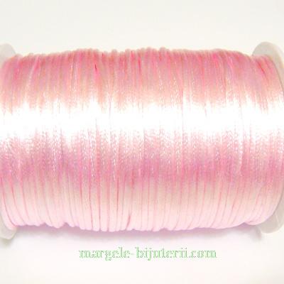 Snur saten roz 2mm 1 m