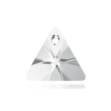 Swarovski Elements, Xilion Triangle Pendant 6628-Crystal, 12mm 1 buc