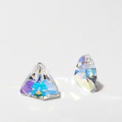 Swarovski Elements, Xilion Triangle Pendant 6628-Crystal AB, 8mm 1 buc