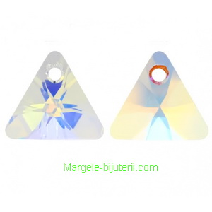 Swarovski Elements, Xilion Triangle Pendant 6628-Crystal AB, 8mm 1 buc
