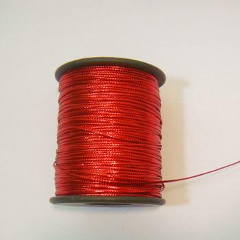Fir lurex rosu plat, 1mm 5 m