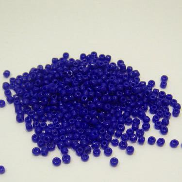 Margele nisip,albastru indigo,  opace, 2mm 20 g