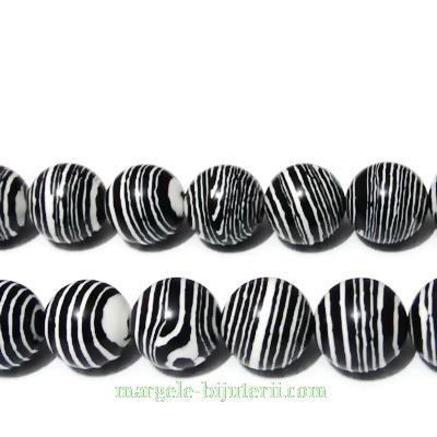Compozit alb-negru, sferic, 12mm 1 buc