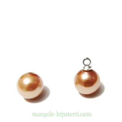 Perle stil Mallorca, aurii, semigaurite, 8mm 1 buc