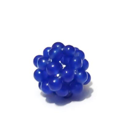 Bulgaras jad albastru 4mm, 16mm 1 buc