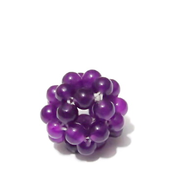 Bulgaras jad violet 3.5mm, 16mm 1 buc