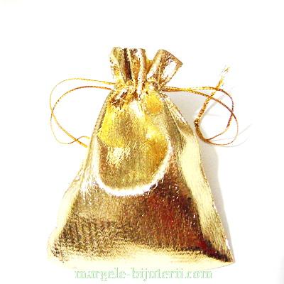 Saculeti lurex, aurii, 9x7 cm 1 buc