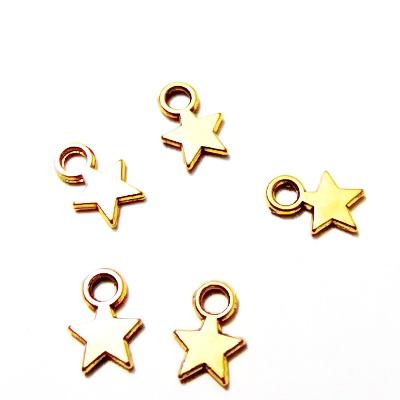 Pandantiv auriu-antic, stea 10x8x2mm 1 buc