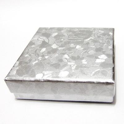 Cutie carton, argintie, 8.5x8.5x2.5cm 1 buc