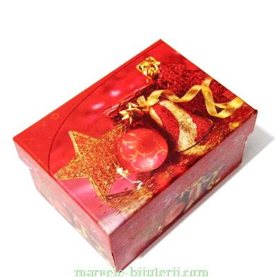 Cutie carton, imagini Craciun, model 1, 12x8.5x6.5 cm 1 buc