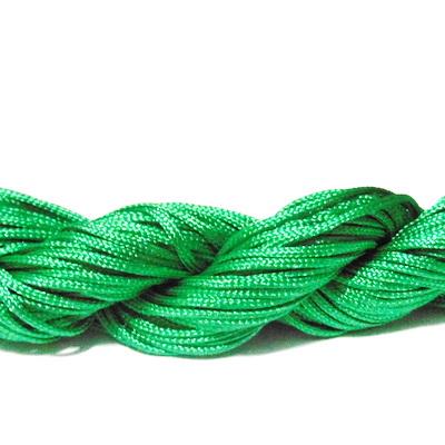 Snur matasos pt. bratari shamballa, verde, grosime 1mm-scul 26m 1 buc