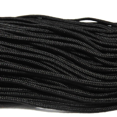 Snur paracord, negru, 2mm 1 m