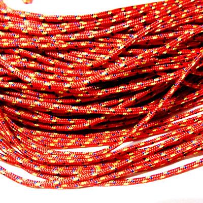 Snur paracord, rosu cu galben si albastru, 2mm 1 m