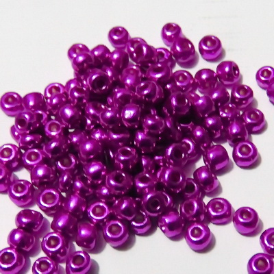 Margele nisip, fucsia-violet, perlate, 4mm 20 g
