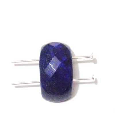 Lapis Lazuli, multifete, cu 2 orificii, 25x12x8mm 1 buc