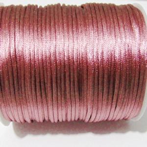 Snur saten, roz-prafuit, 2mm 1 m