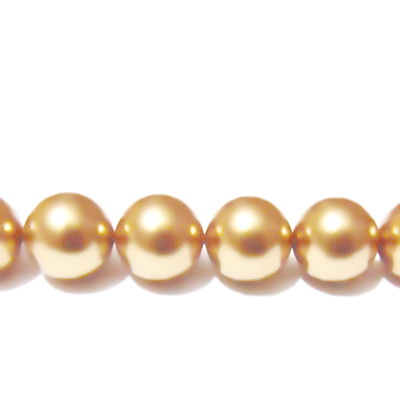 Swarovski Elements, Pearl 5810 Crystal Bright Gold 12 mm 1 buc